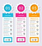 Product pricing comparison table Royalty Free Stock Photo