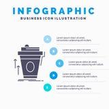 product, promo die, koffie, kop, merk Infographics-Malplaatje voor Website en Presentatie op de markt brengen GLyph Grijs pictogr royalty-vrije illustratie