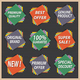 Product Quality Badges Vector Royalty Free Stock Photos