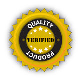 Product quality verified sticker Stock Image
