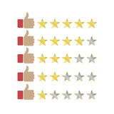 Product rating star Royalty Free Stock Image