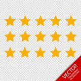 Product Rating Stars - Different Vector Icons - Isolated On Transparent Background Royalty Free Stock Image