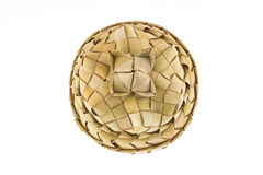Product of rattan, basket with lid, top view Royalty Free Stock Photography