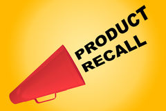 Product Recall concept. 3D illustration of PRODUCT RECALL title flowing from a loudspeaker Stock Photo