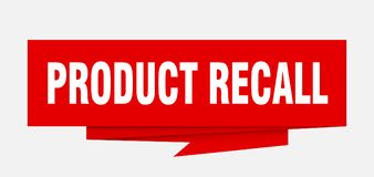 Product recall. Sign.  paper origami speech bubble.  tag.  banner vector illustration
