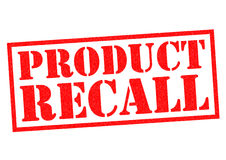 PRODUCT RECALL. Red Rubber Stamp over a white background vector illustration