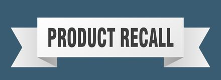 Product recall ribbon. Product recall banner. sign. product recall stock illustration