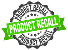 Product recall stamp Royalty Free Stock Image