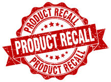 Product recall stamp. Sign. seal Royalty Free Stock Photos