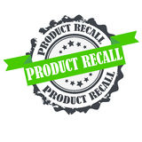Product recall stamp.Sign.seal.Logo design Stock Images