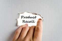 Product recall text concept. Isolated over white background Royalty Free Stock Photography