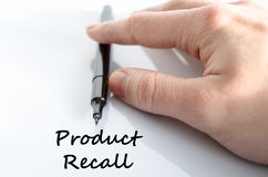 Product recall text concept Stock Photo