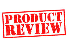 PRODUCT REVIEW. Red Rubber Stamp over a white background Stock Photography
