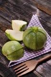 Round zucchini Stock Images
