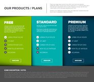 Product / service price comparison table royalty free illustration