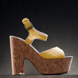 Product shot of high heel shoe Stock Images