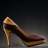 Product shot of high heel shoe Stock Photos