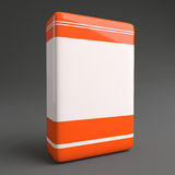 Product Software Box Orange White Royalty Free Stock Photos