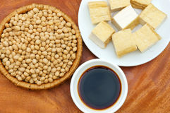 Product from soybean. Soybean name Glycine max, Fabaceae family, rich protein, acid amin, vitamin, an orgaric, cheap, nutrition product, to process soymilk, soy Royalty Free Stock Image