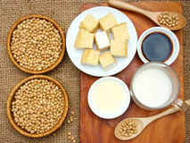Product from soybean. Soybean name Glycine max, Fabaceae family, rich protein, acid amin, vitamin, an orgaric, cheap, nutrition product, to process soymilk, soy Stock Images