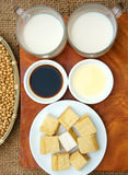 Product from soybean. Soybean name Glycine max, Fabaceae family, rich protein, acid amin, vitamin, an orgaric, cheap, nutrition product, to process soymilk, soy Royalty Free Stock Photo