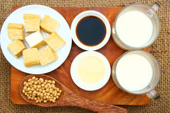 Product from soybean. Soybean name Glycine max, Fabaceae family, rich protein, acid amin, vitamin, an orgaric, cheap, nutrition product, to process soymilk, soy Royalty Free Stock Photography