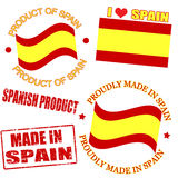 Product of Spain stamps Royalty Free Stock Photos