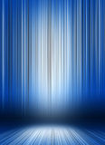 Product Stage Background. Background for presentations in dark blue with stripes and 3D effect vector illustration