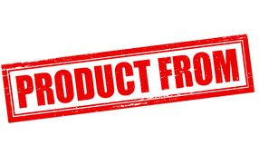 Product from. Stamp with text product from inside,  illustration Royalty Free Stock Images