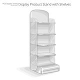 Product Stand with shelves. Royalty Free Stock Image