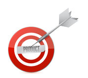 Product target and dart illustration design Royalty Free Stock Photography