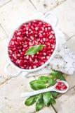 Product van Autumn Season Pomegranate Royalty-vrije Stock Afbeelding