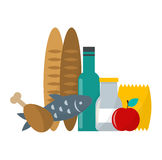 Daily product vector illustration. Stock Images