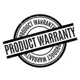 Product Warranty rubber stamp. Grunge design with dust scratches. Effects can be easily removed for a clean, crisp look. Color is easily changed Royalty Free Stock Image