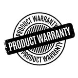 Product Warranty rubber stamp. Grunge design with dust scratches. Effects can be easily removed for a clean, crisp look. Color is easily changed Stock Photography