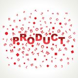 Product word with in alphabets Stock Photography