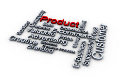 Product words cloud Stock Images