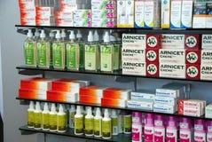 Producten in Apotheek stock afbeelding