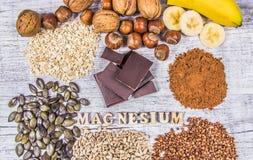 Producten die magnesium bevatten Gezond voedsel Royalty-vrije Stock Afbeelding