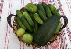 Producten van de tuin Yummy plattelander stock fotografie