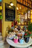 Producten van rotszout, traditionele herinneringen van Salzkammergu stock afbeeldingen