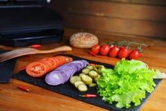 Producten voor hamburger Royalty-vrije Stock Afbeeldingen