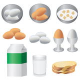 Producten voor ontbijt. Stock Fotografie