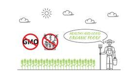 Producteur et organique illustration de blé de vecteur de schéma illustration libre de droits