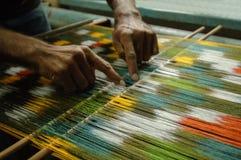 Productie en het weven van tapijten en stoffen Royalty-vrije Stock Fotografie