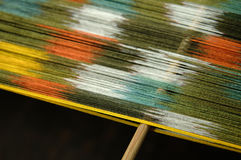 Productie en het weven van tapijten en stoffen Stock Afbeeldingen