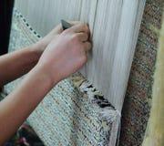 Productie en het weven van tapijten en stoffen Royalty-vrije Stock Afbeelding