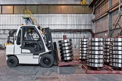 Productie van de wielen van de staaltrein Royalty-vrije Stock Afbeelding