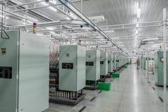 Productie van draden in een textielfabriek royalty-vrije stock fotografie
