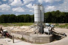 Productie van het beton stock afbeeldingen